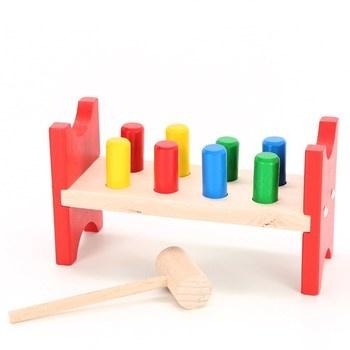 Dětská hračka Eichhorn Zatloukávání kolíků