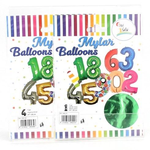 Balónky Givi Italia číslice