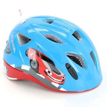 Dětská helma Alpina modrá s autíčkem