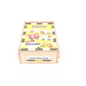 Dřevěné puzzle v krabičce Legler Doprava