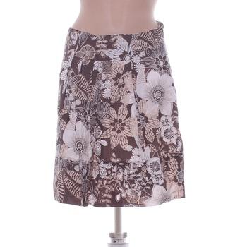 Dámská sukně Orsay hnědá s květy