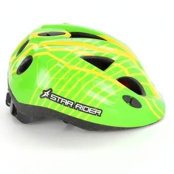 Cyklistická dětská helma Star Rider zelená