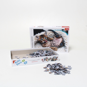 Puzzle 1000 veselá kočka Trefl 10448