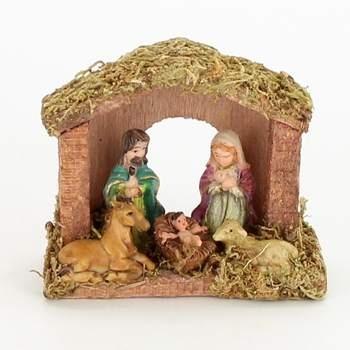 Betlém vánoční dekorace ze dřeva a plastu