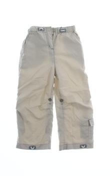 Dětské plátěné kalhoty Next béžové