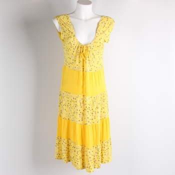 Dámské šaty odstín žluté a zlaté