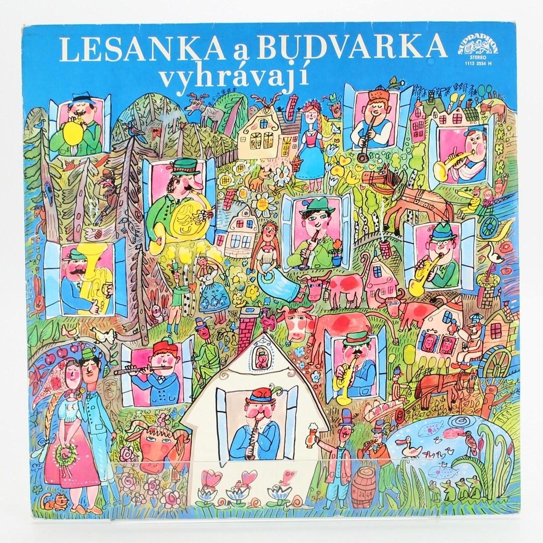 Gramofonová deska Lesanka a Budvarka vyhráv