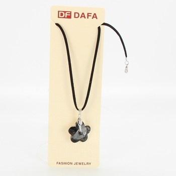 Náhrdelník Dafa s šedou kytičkou