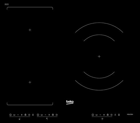 Indukční varná deska Beko HII 63300 FHT