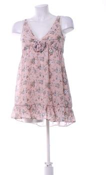Dámské letní šaty na ramínka New Look růžové