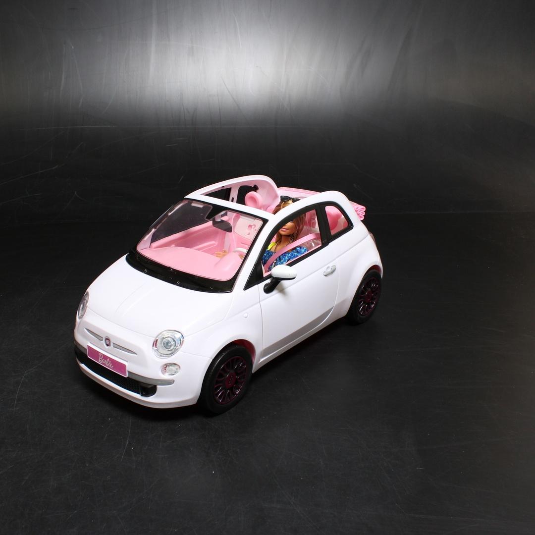 Barbie v bílém autě Fiat 500 Mattel FVR07