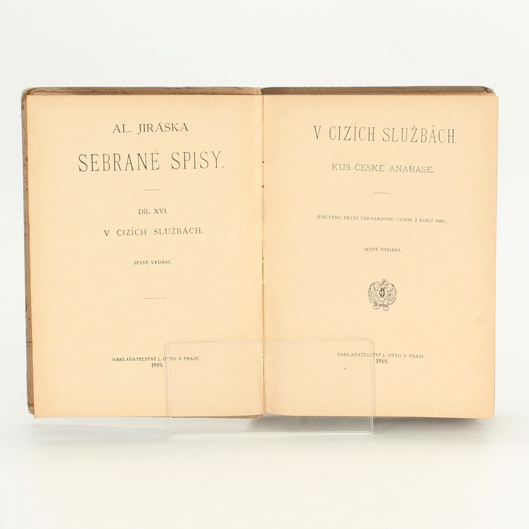 Kniha V cizích službách Alois Jirásek