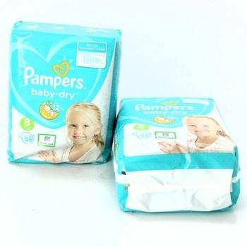 Dětské pleny Pampers baby-dry velikost 8 2ks