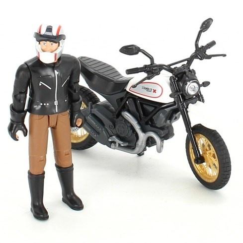 Model motocyklu Dukati s figurkou