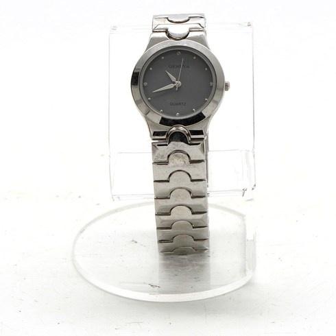 Dámské hodinky Geneva s černým ciferníkem - bazar  07dd65df02