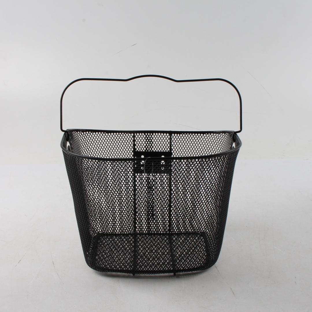 Košík na kolo černý kovový