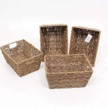 Sada 4 úložných boxů Woodluv E01-114