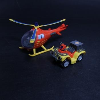 Sada vrtulník + auto Smoby 109251014002