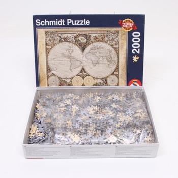 Puzzle 2000 Historická mapa světa Schmidt