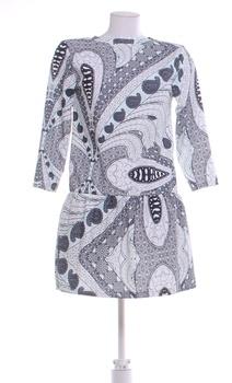 Dámské elegantní šaty Made in Italy šedé