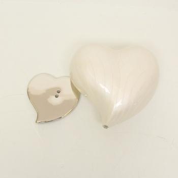 Srdce Metal Urn Heart Large Watford Pearl