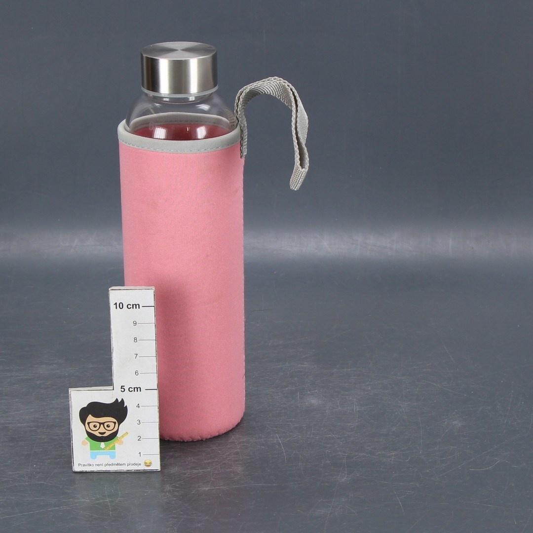 Outdoor láhev skleněná růžová