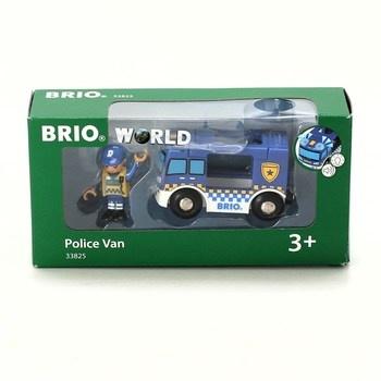 Policejní vůz Brio 33825 se světlem a zvukem