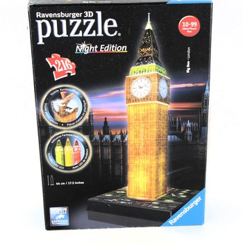 3D puzzle Ravensburger Big Ben Night edition