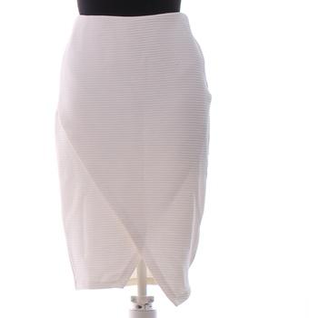 Dámská sukně H&M odstín bílé