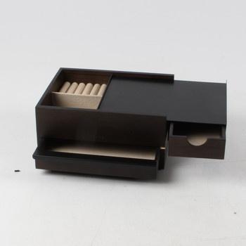 Šperkovnice Umbra černá se zásuvkami