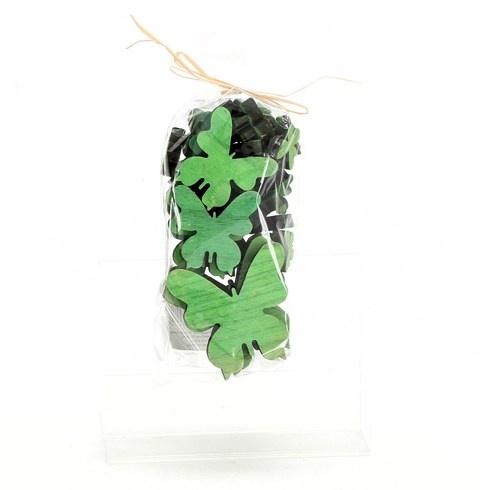 Sada dřevěných dekoračních motýlků 25 ks
