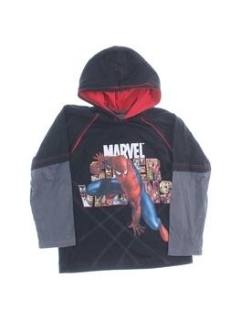 Dětské triko s dlouhým rukávem Marvel kapuce