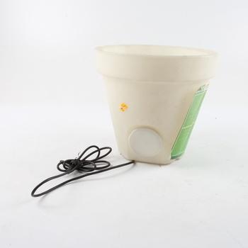 Svítící květináč Lifetime bílý, průměr 35cm