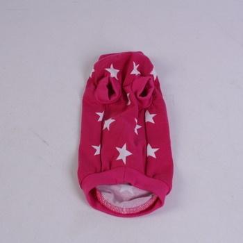 Obleček pro psa růžový s hvězdičkami