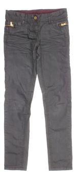 Dívčí džíny C&A se zipy šedé