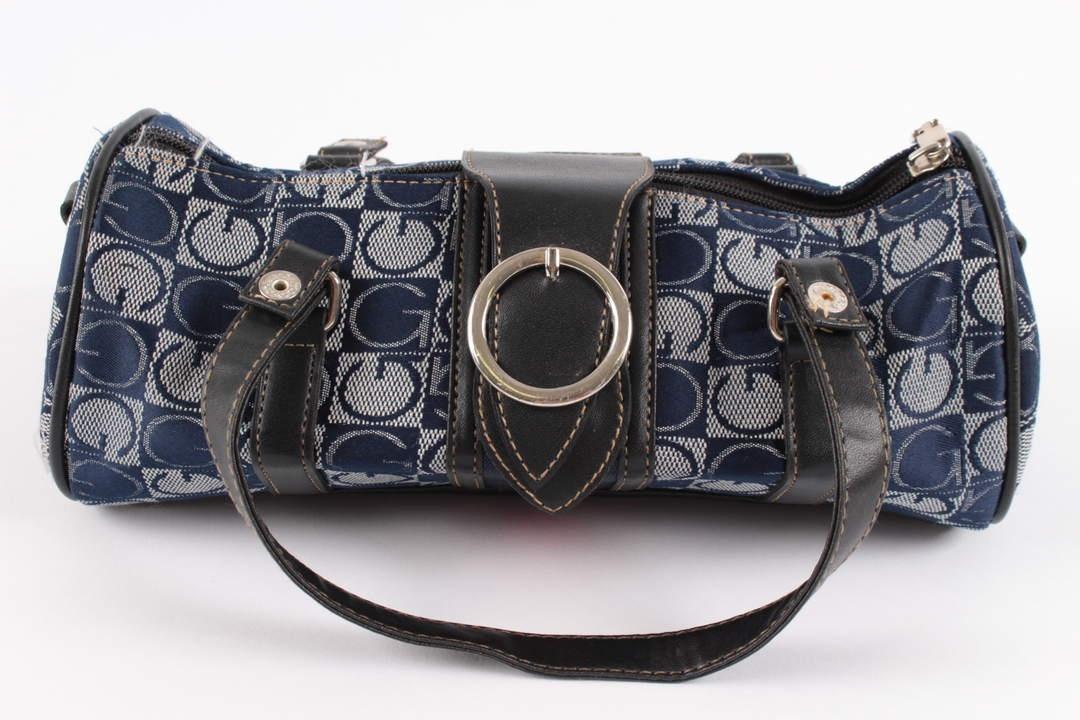 Dámská válcovitá kabelka na rameno modrá