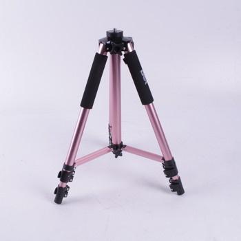 Tripod stativ GEX růžový nastavitelný