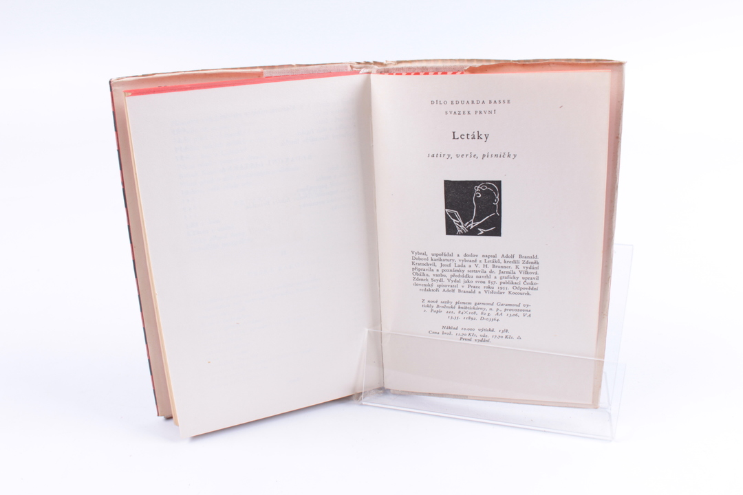 Kniha Eduard Bass: Letáky
