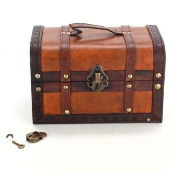 Dřevěná truhla Brynnberg William se zámkem