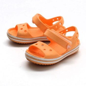 Dívčí sandálky Crocs oranžové