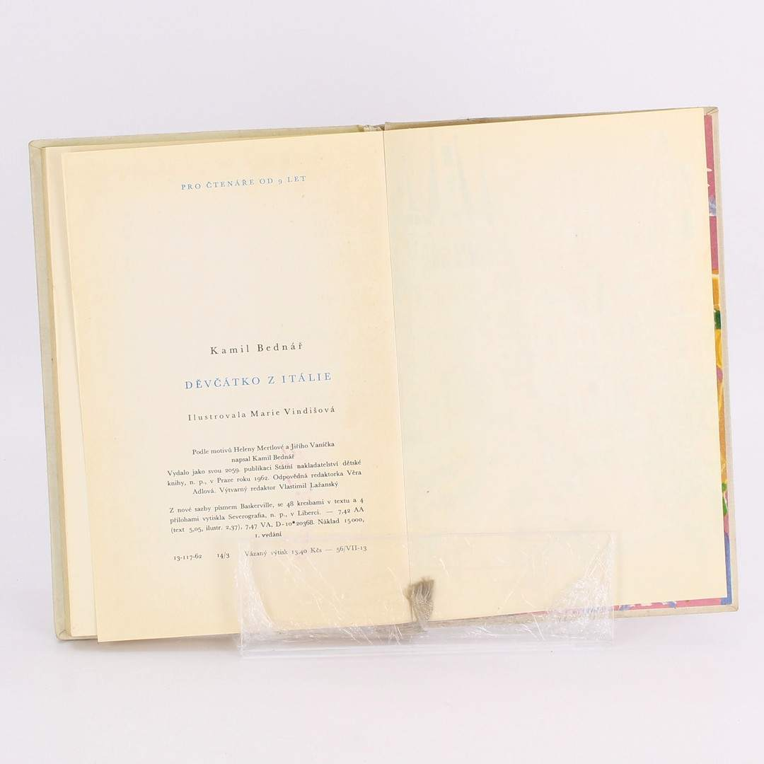 Kniha Děvčátko z Itálie Kamil Bednář