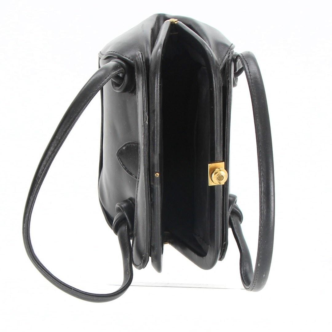 Dámská kabelka do ruky černá se sponou