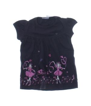 Dívčí tričko Okay černé s baletkami