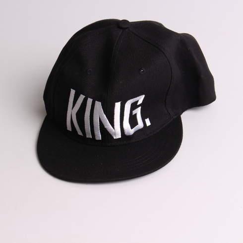 Dětská černá kšiltovka s bílým nápisem King - bazar  91dd85d7df