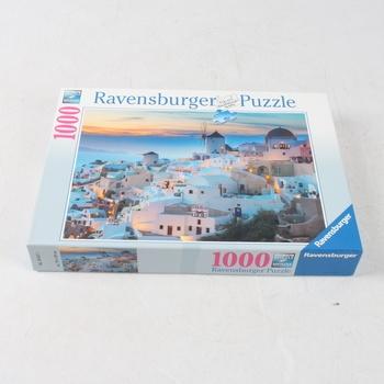 Puzzle 1000 Ravensburger Večer v Santorini 196111