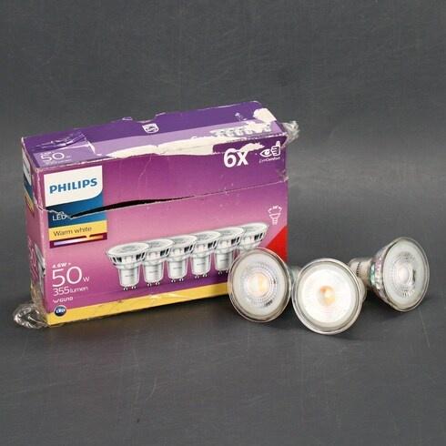 LED žárovky Philips GU10 4,6 W sada 6 ks