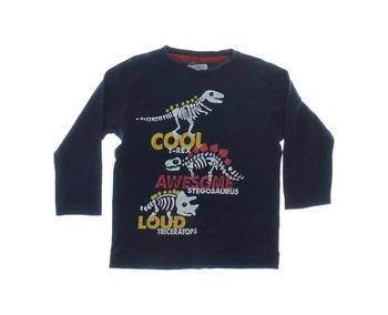 Dětské triko Pepco modré s dinosaury