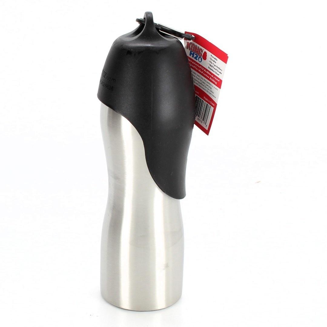Cestovní láhev na pití Kong H2O s miskou
