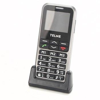 Mobil pro seniory Telme C151 stříbrný