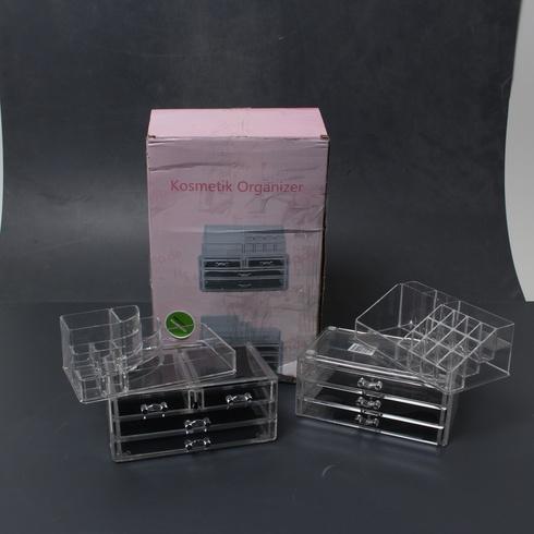 Kosmetický organizér plastový, čirý